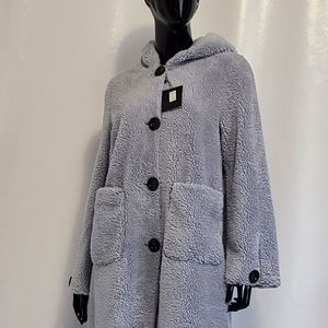 *New* Only Accessories Faux Sherpa Jacket BLUE M/L